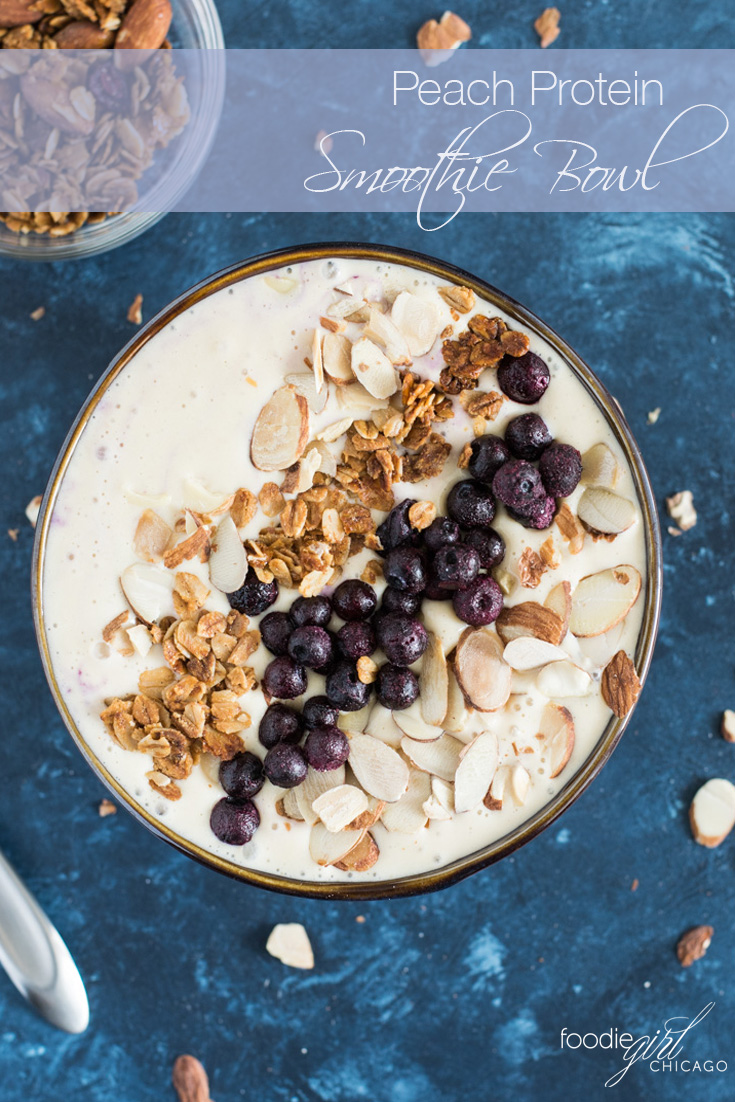 Take your weekday breakfast to the next level with this protein-packedPeach Smoothie Bowl!