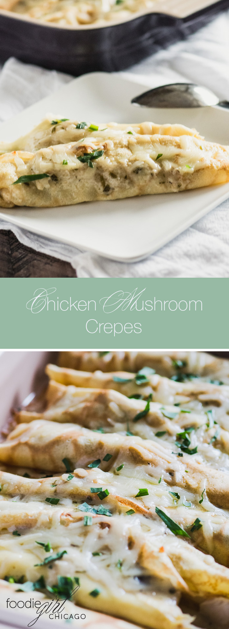 Creamy Chicken Mushroom Crepes