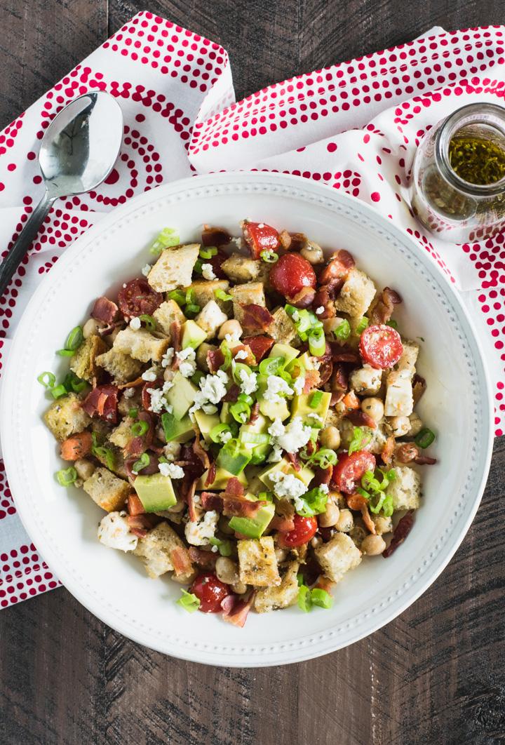 Summer BLT Panzanella Salad