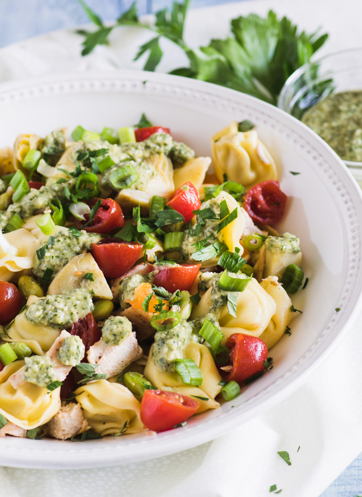 This summer pasta salad is loaded with veggies for a great light summer meal!