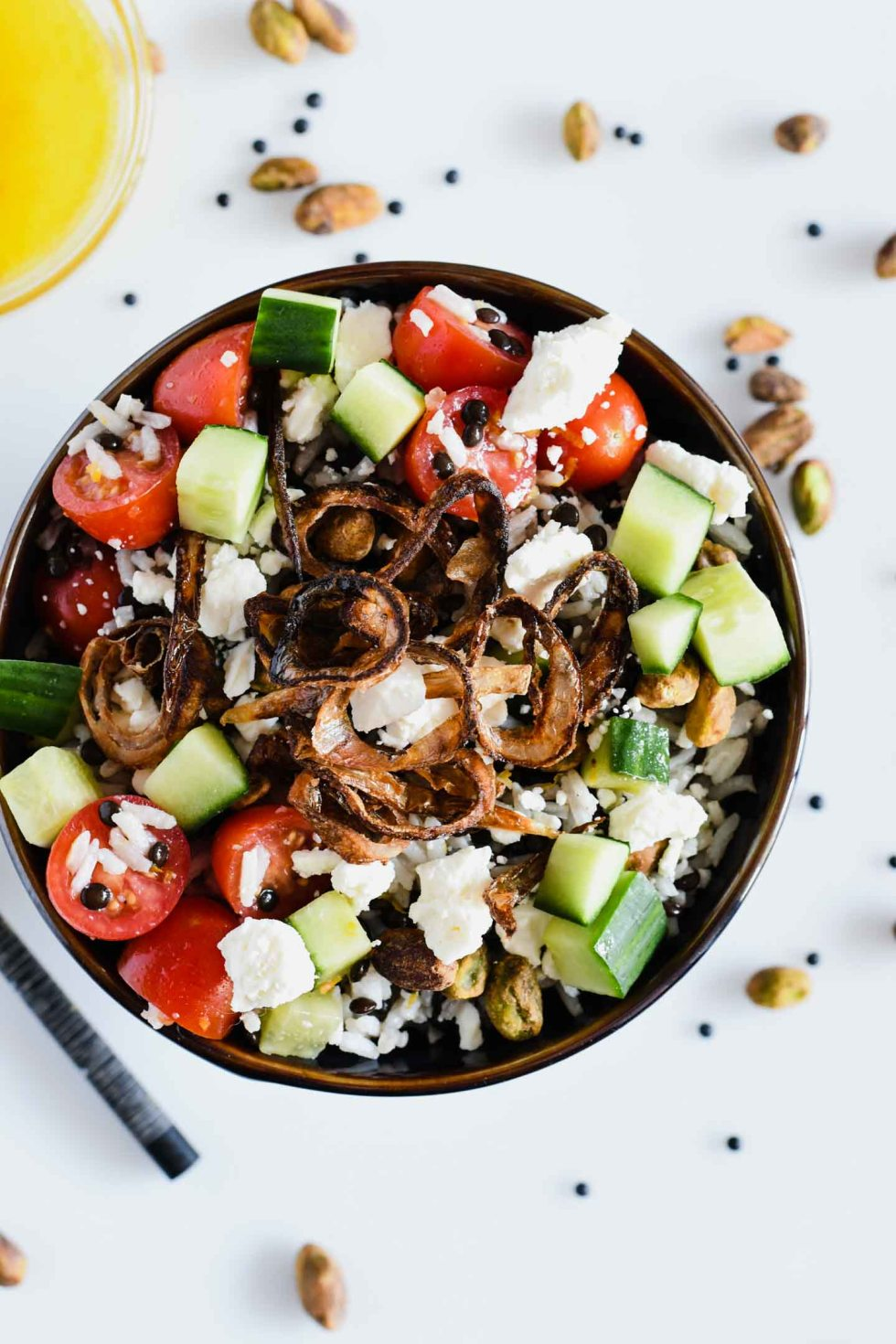 Beluga lentils offer an great source of protein in this flavorful salad. Adding some beluga lentil recipes to your weekly meal rotation will give you tasty options for meatless Monday!
