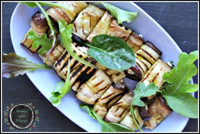 Grilled Aubergine & Feta Roll-Ups