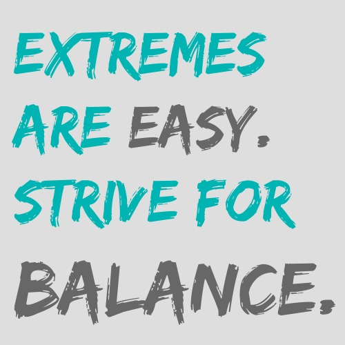 Sweets And Balance Exercise Quote