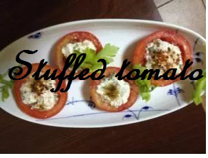 vegetarian stuffed tomato