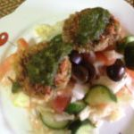 Lauki and sabudana kebab with salad