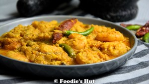 Chingri Narkel posto - recipe by Foodie's Hut