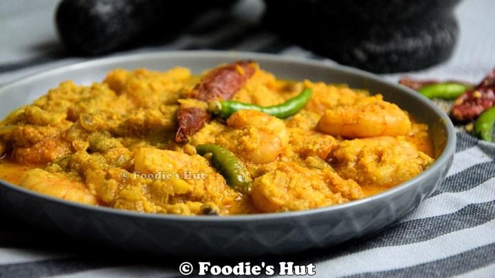Chingri Narkel posto - recipe by Foodie's Hut