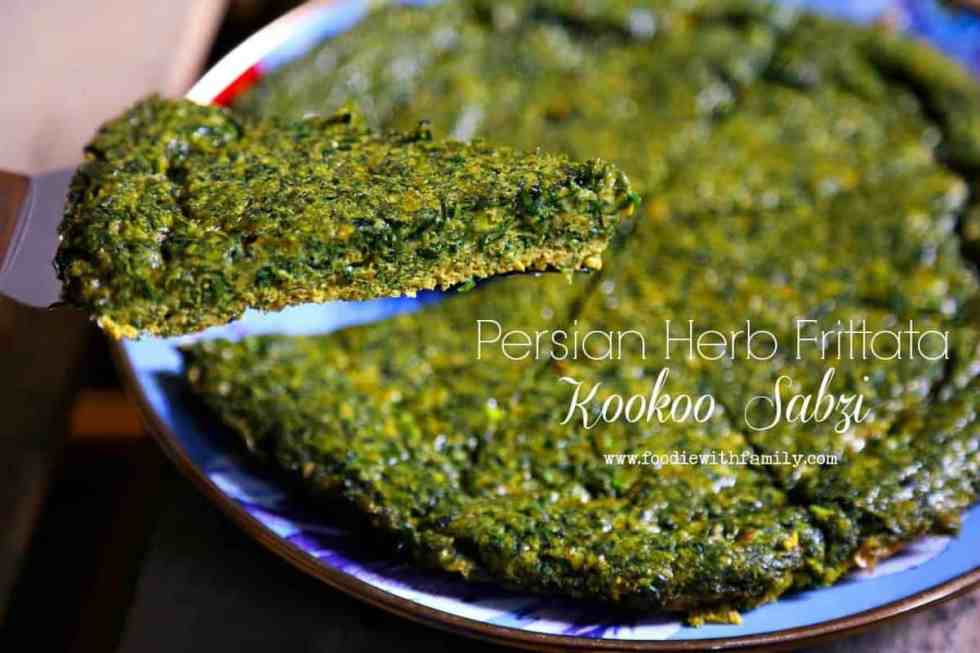 Persian Herb Frittata {Foodie with Family}