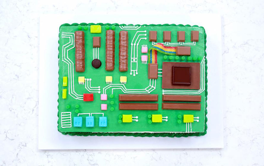 The Motherboard Cake Will Help Process An Awesome Dessert
