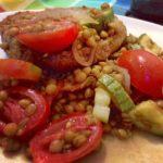 Insalata di lenticchie in agrodolce
