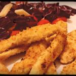 Chips di pollo marinate