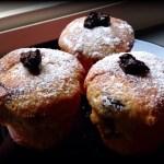 Muffins di vaniglia con cuore mirtilloso