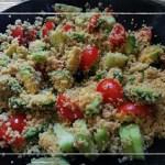 Cous Cous integrale con verdure estive e avocado