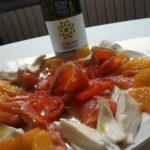 Salmone affumicato con fiordilatte e arance al timo