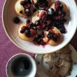 Muffin di riso e frutti di bosco