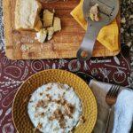 Risotto al tartufo bianco e crema di parmigiano