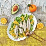 Sgombro in insalata di arance e avocado