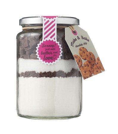 moederdag cadeautjes onder vijf Euro chocolate chip koekjes in een jar