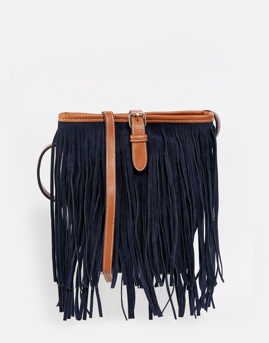 Blauwe fringe tas fringe inspiratie van blog Foodinista Dress to Impress