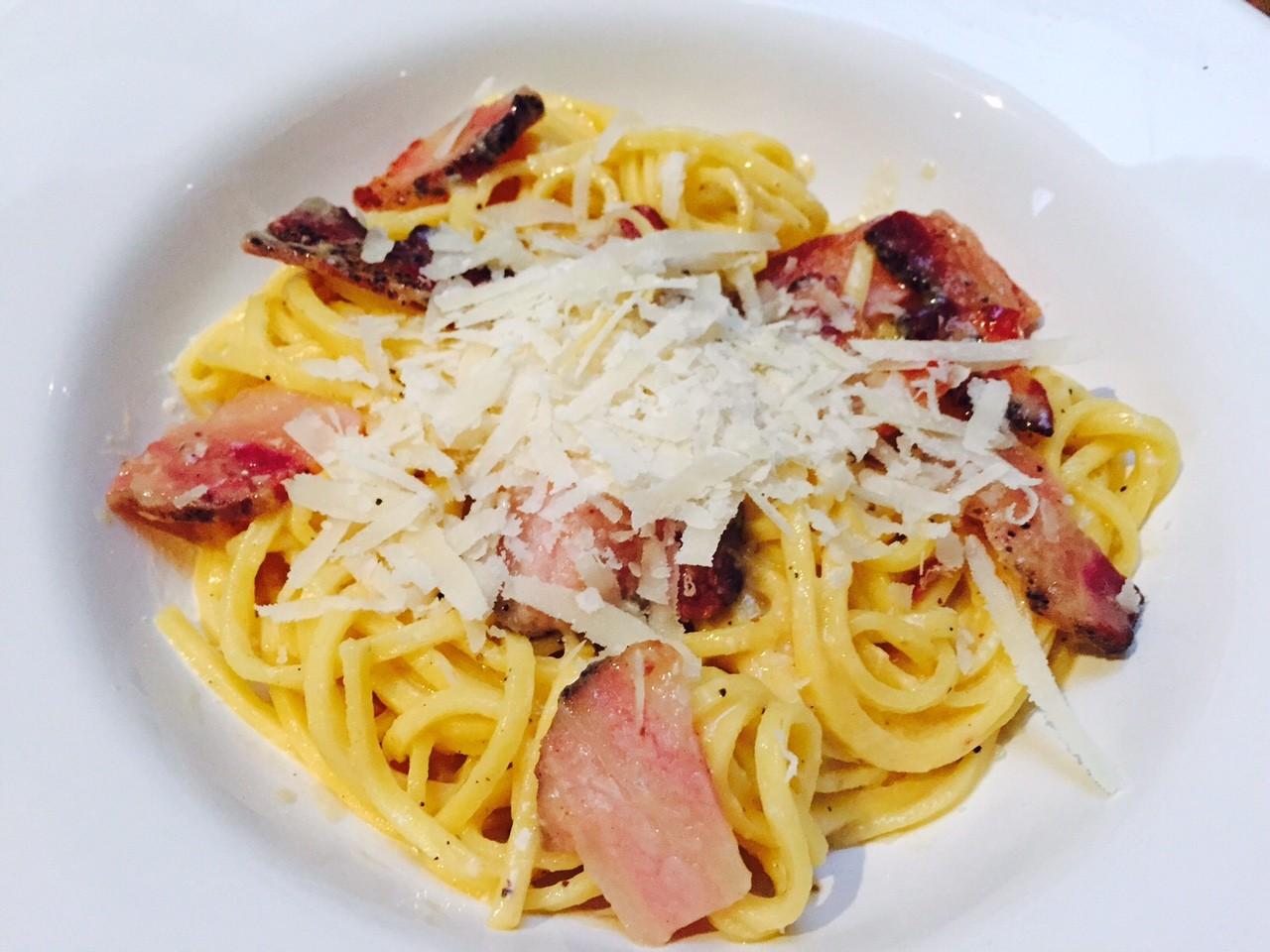 Mijn klassieke pasta carbonara recept foodblog Foodinista
