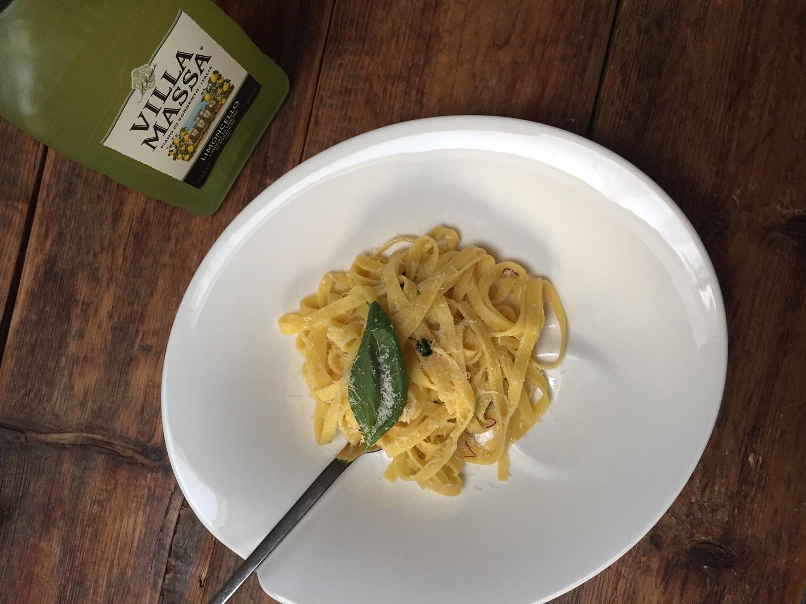 Pasta met saffraan en limoncello recept van foodblog Foodinista