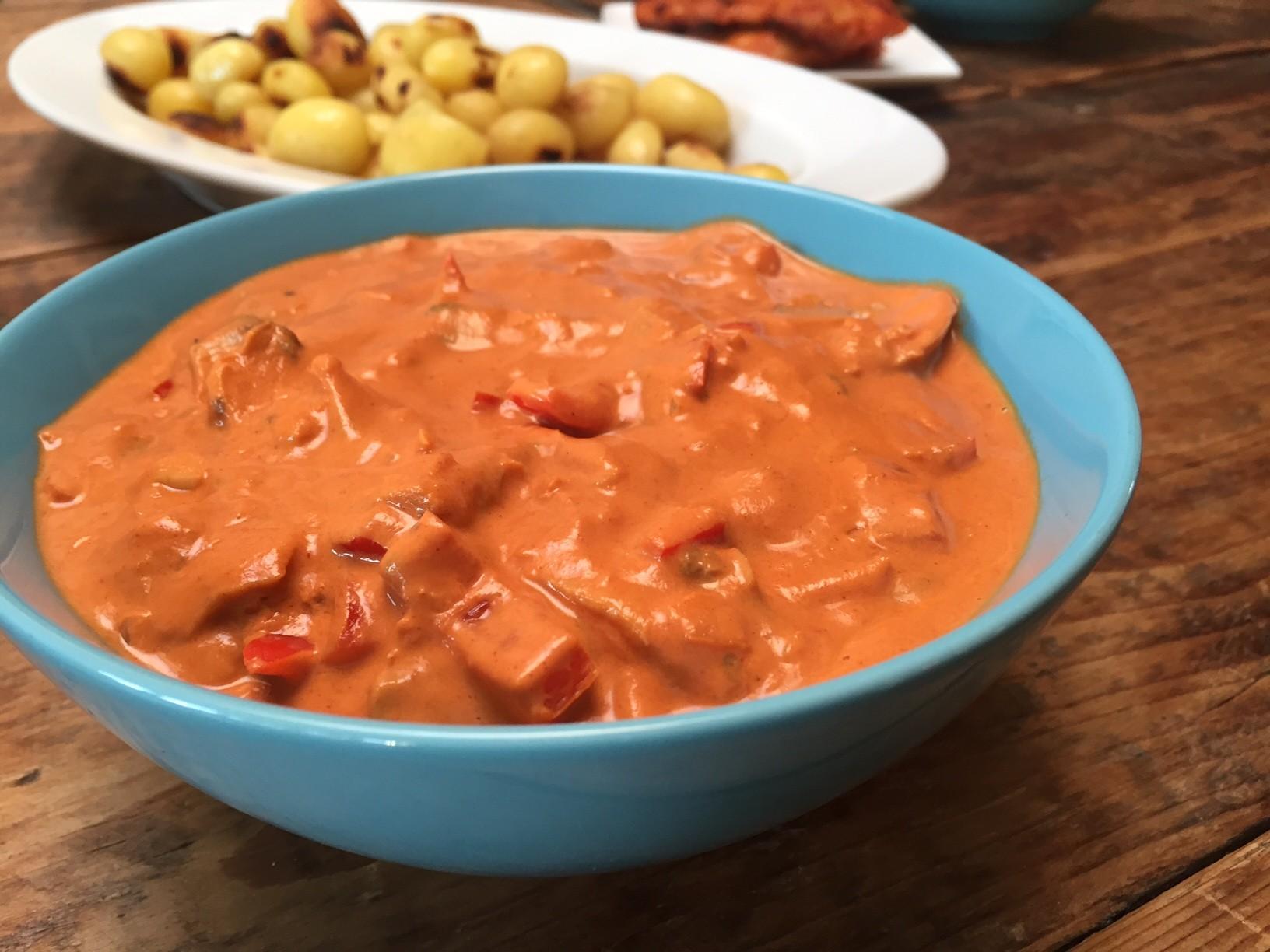Stroganoffsaus recept foodblog Foodinista