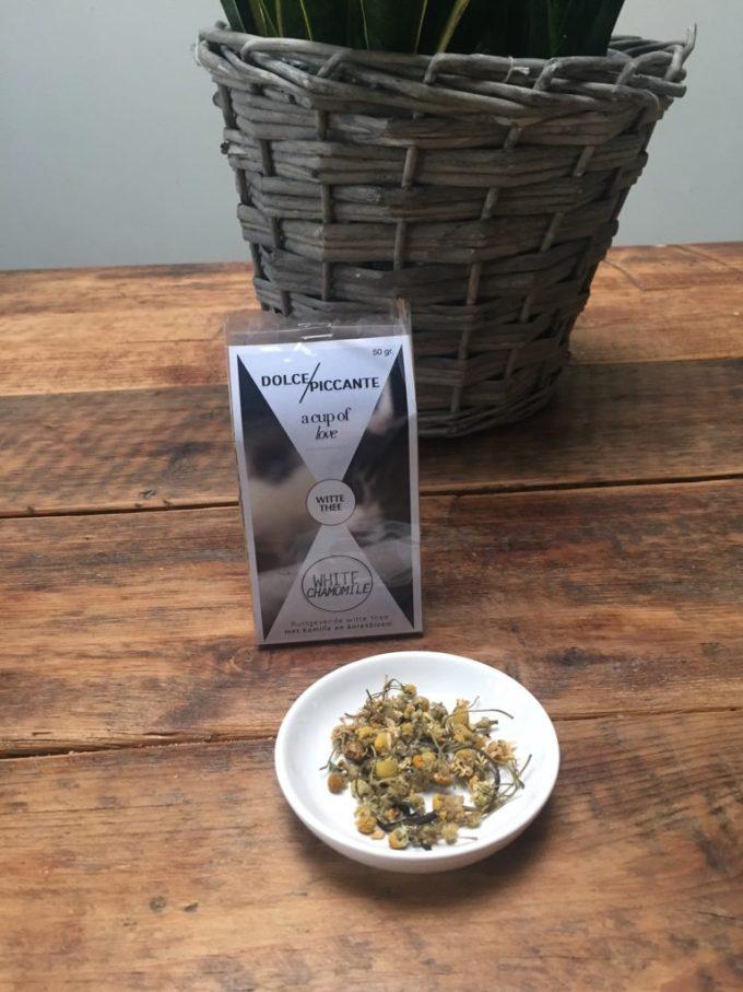 Witte kamille thee van Dolce Piccante winnen bij Foodblog Foodinista