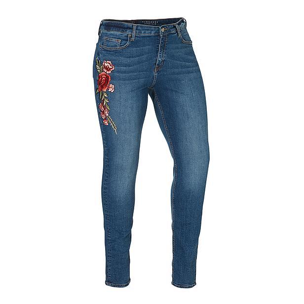Bloemen jeans curved size stonewash shoptips blogger favorieten foodinista