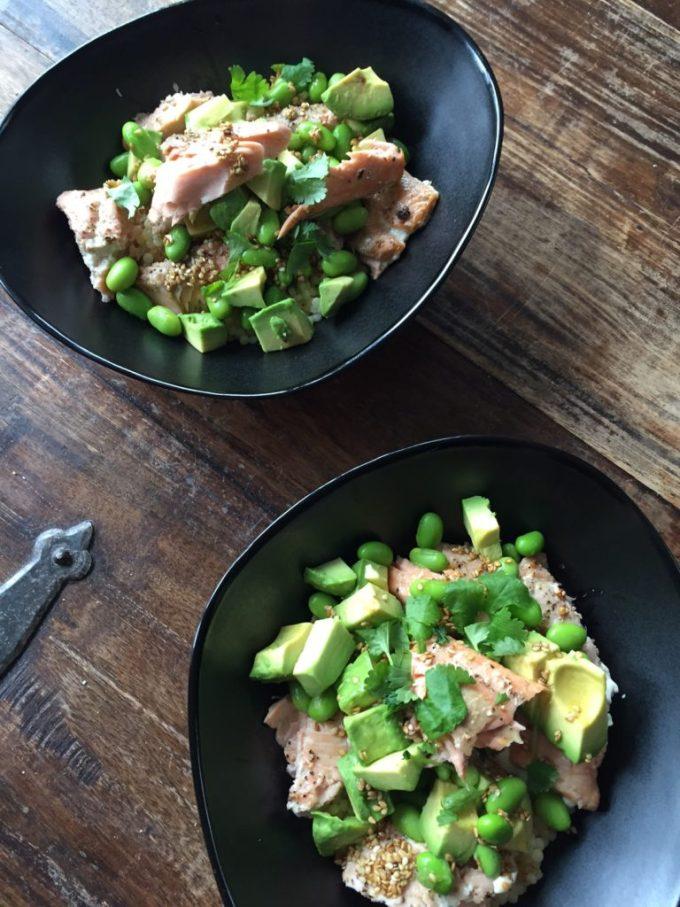 Parelcouscoussalade recept met zalm avocado en adamame foodblog Foodinista