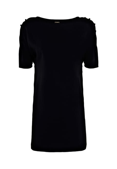 Off shoulder zwart jurkje in de sale Dress to Impress
