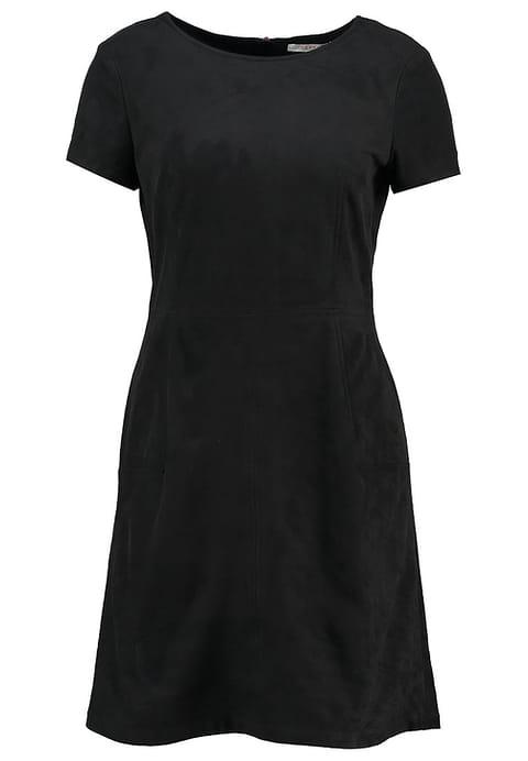 Simpel zwart jurkje van imitatieleer Dress to impress met korting
