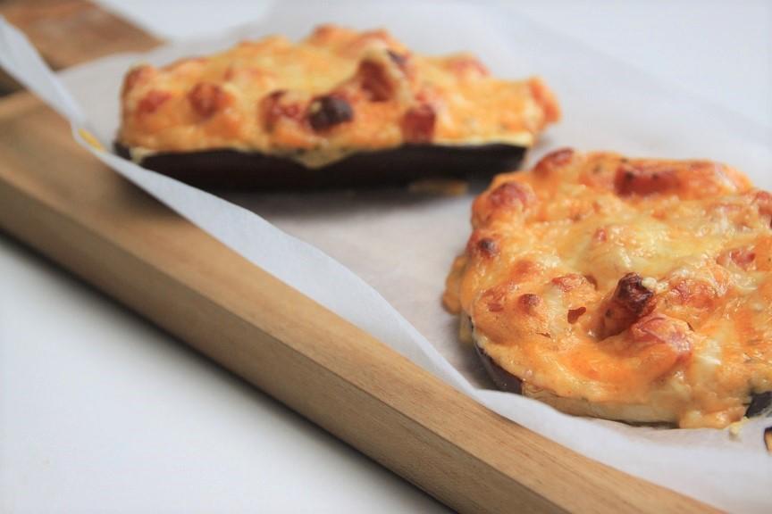 Aubergineschuitjes met bechamel en ham recept foodblog Foodinista