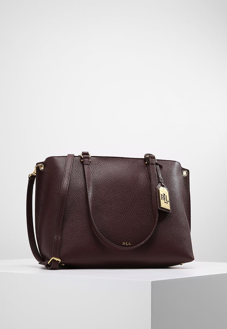 Lauren Ralph aubergine shopper tas uitverkoop tip Dress to Impress