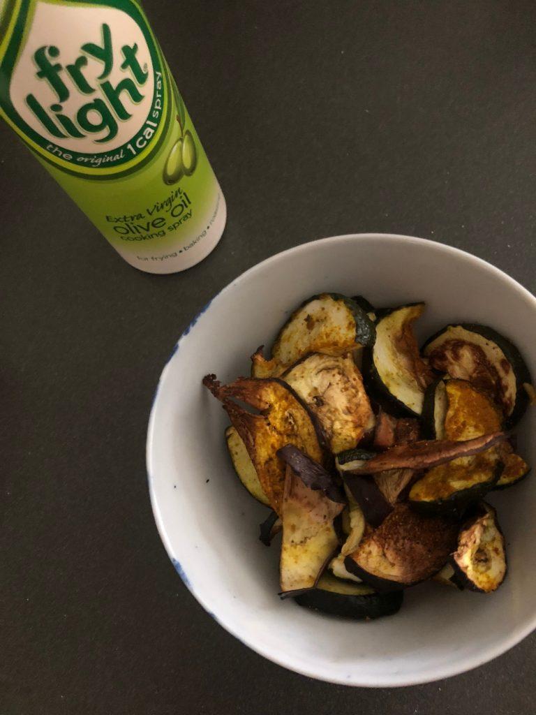 Gegrilde groente uit de oven met Fry Light van Newfysic