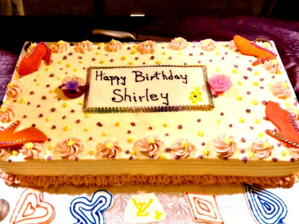 Slab Cake – Happy Birthday Shirley