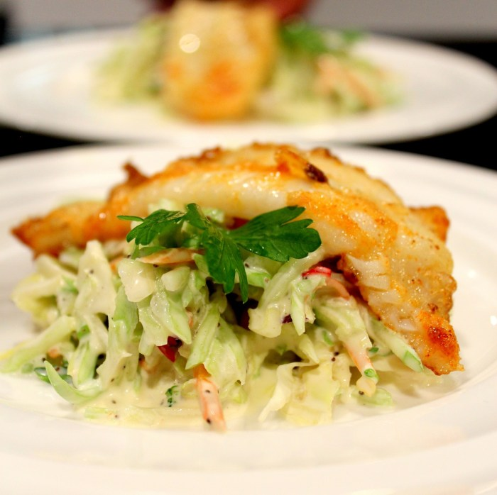 Pan Fried Sole and Cole Slaw2a