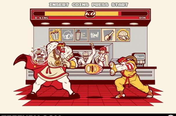 Foodista Tee Fury Debuts Fighting Fast Food Mascots