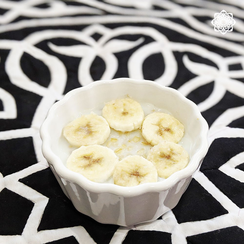 Egyptian Wheat Pudding (عاشوراء) with Banana topping