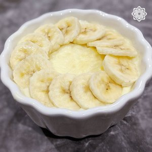 Egyptian Rice Pudding (أرز باللبن) with Banana topping