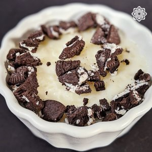 Egyptian Rice Pudding (أرز باللبن) with Oreo topping