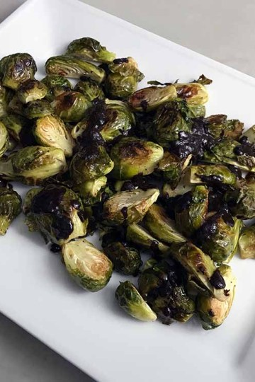 brussels sprouts black garlic sauce