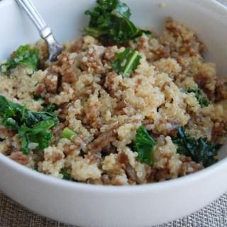 sausage and kale quinoa