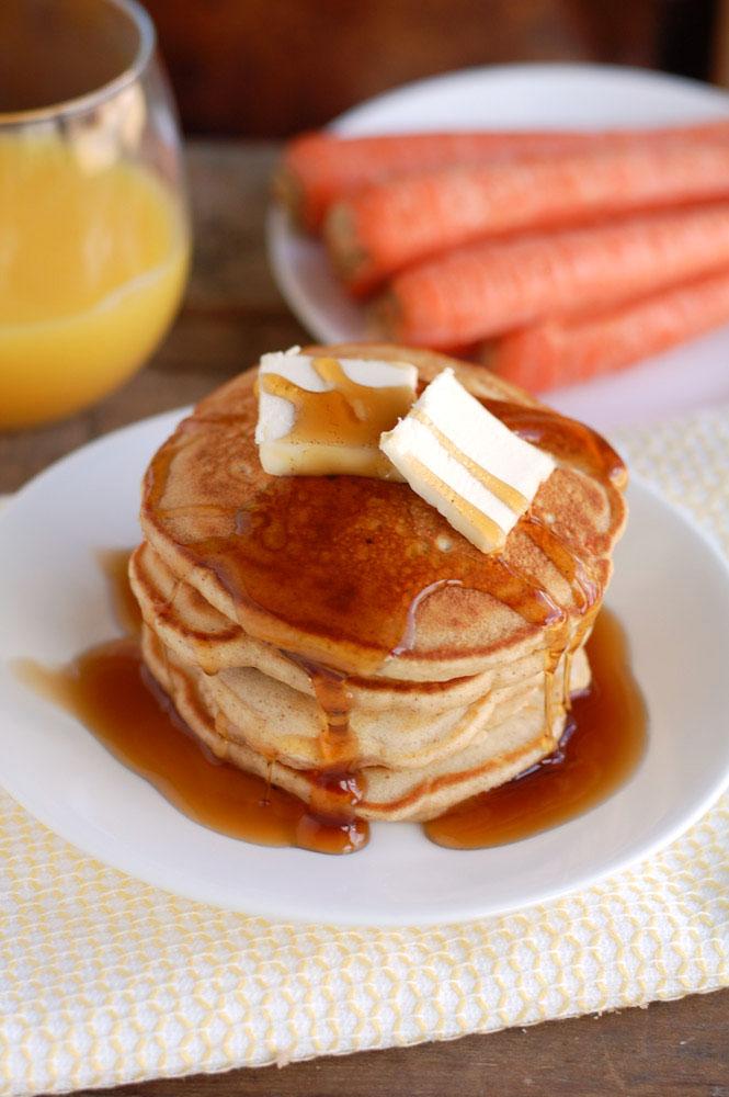 easy carrot cake pancakes