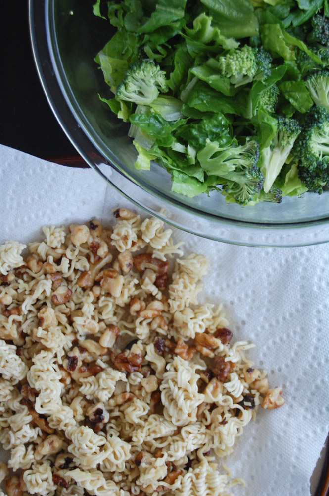 crunchy romaine salad
