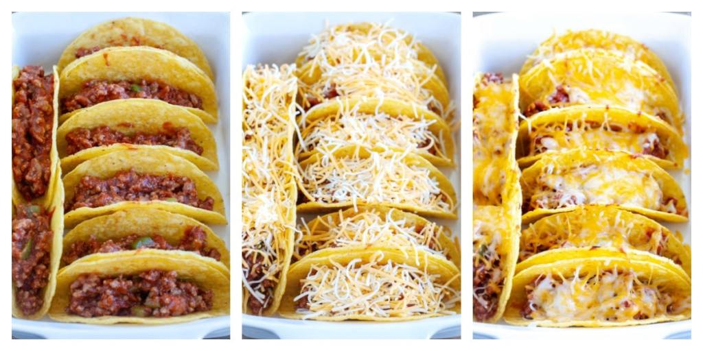 tacos with cheese and melted