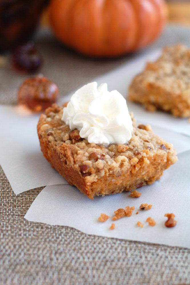 The Best Pumpkin Cheesecake bars