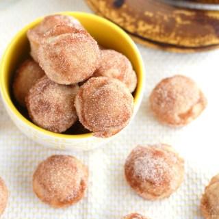 Cinnamon Sugar Banana Donut Holes