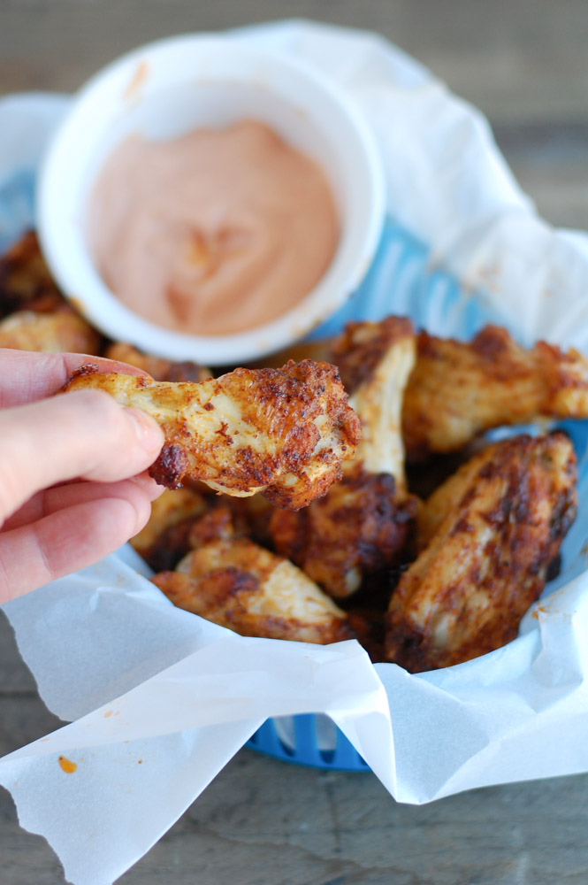 Game worthy baked brown sugar chicken wings that are a little bit spicy and a little bit sweet. Your fans will go crazy for these wings!