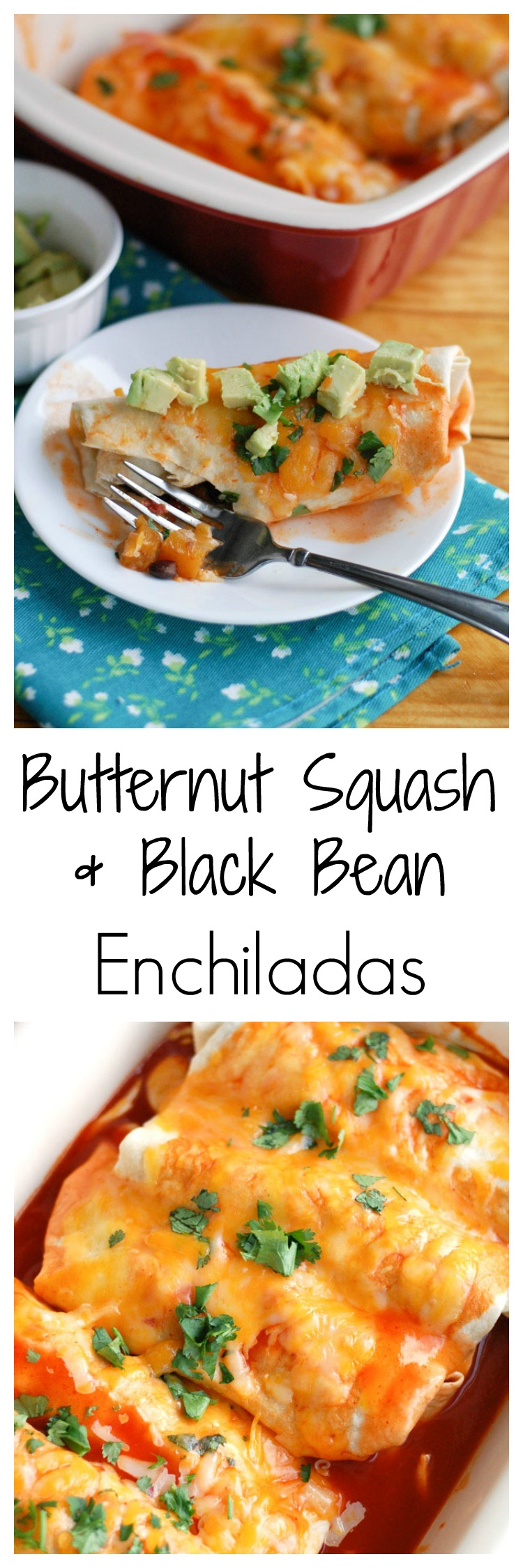Butternut squash and black bean enchiladas #YesYouCan #ad