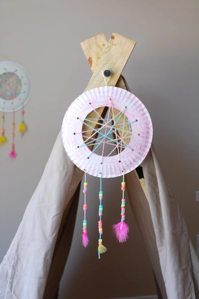 Dream Catcher hanging on teepee